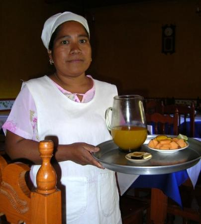 Posada de Chencho: I wish I had asked her name; she served us breakfast each morning.