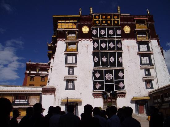 Lhasa, China: Courtyard of the Potala Palace