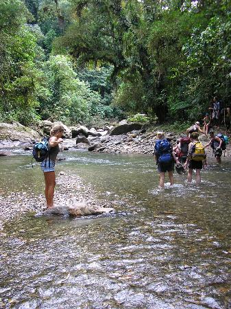 Santa Marta District, Colombia: Splashing through the river