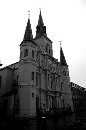 St. Louis Cathedral: Cathedral in the rain