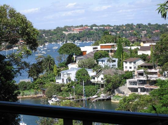 Greenwich, Australia: the view from the balcony