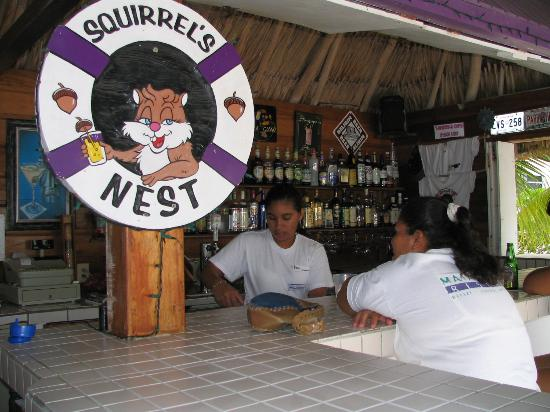 ‪ماتا روكس ريزورت: Squirrels Nest-On site beach bar‬