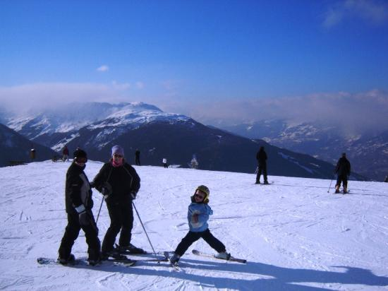 Peisey-Vallandry, France : On top of the world!