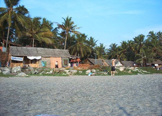 Varkala, Inde : Beach Restaurant no.1