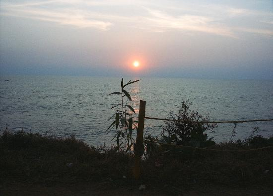 Sunset over Varkala Beach