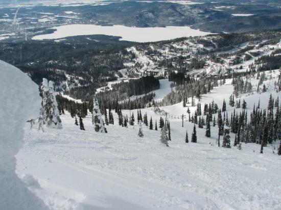 Whitefish, MT : Looking down the Face