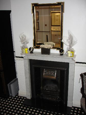 Hotel 41: In-room fireplace