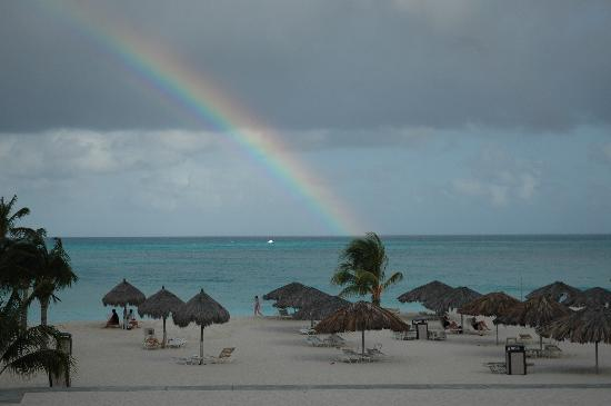 Bucuti & Tara Beach Resort Aruba: Rainbow View from Balcony Day 6