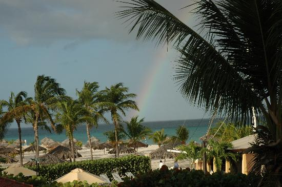 Bucuti & Tara Beach Resort Aruba: Rainbow View from Balcony Day 3