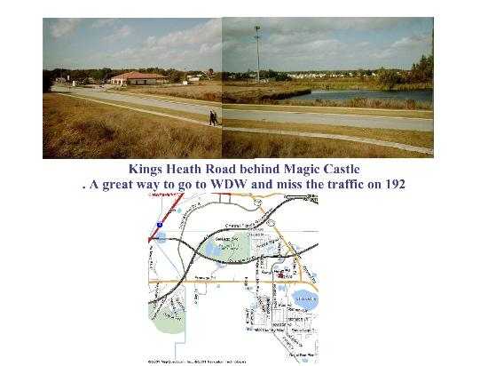 Magic Castle Inn and Suites : Map showing road behind Magic Castle
