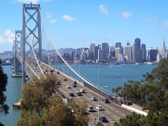 San Francisco Bay: Bay Bridge, taken from Treasure Island