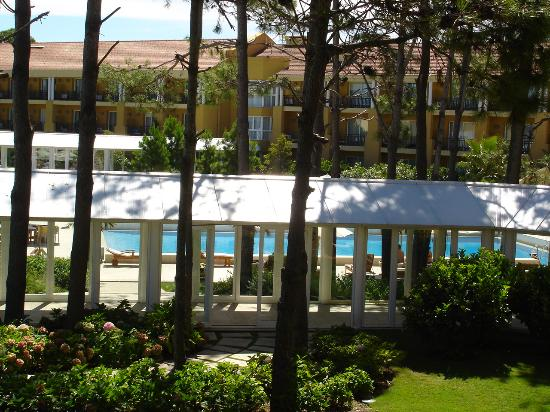 Punta Del Este Resort & Spa: Partial view of the pool through the woods from our terrace