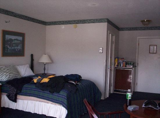 Inn at the Mountain: a standard Inn Room (the junk is ours)
