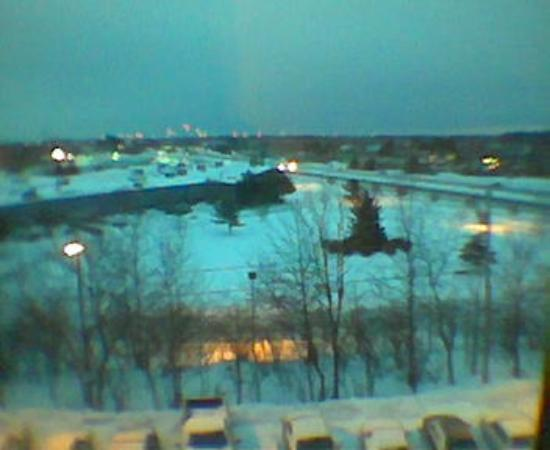 Hampton Inn Portsmouth Central : View from window in snow