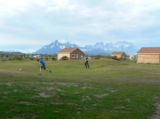 Cabanas Lago Tyndall: The views of the Torres del paine are good