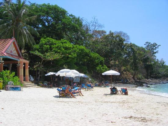 Arayaburi Resort - Phi Phi Island: Reception & Bayview beach - Arayaburi beach is after rocks