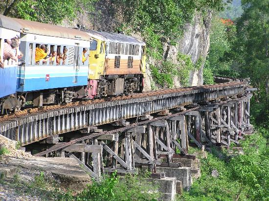 Travelling the Death railway - River Kwai