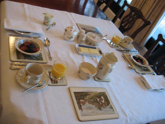 Highfield Farm Accommodation: Breakfast