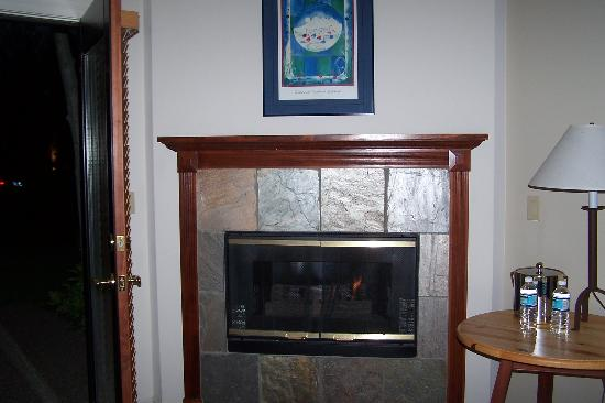 Pine Ridge Inn: Gas fireplace