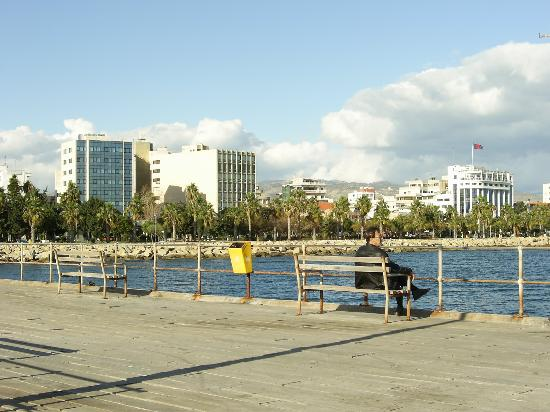 Atlantica Oasis Hotel: View of part of Limassol from the Pier