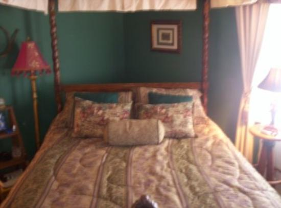 Black Horse Inn: A canopy bed!
