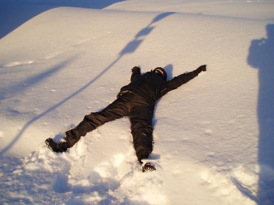 Lapland Hotel Saaga: Snow angel