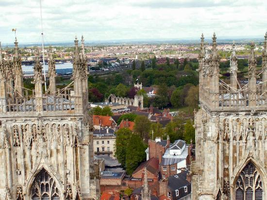 York, UK: At the top of the Minster. No lift but worth the effort!!!