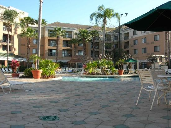 pool from balcony picture of courtyard orlando lake. Black Bedroom Furniture Sets. Home Design Ideas