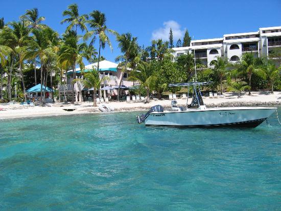 Elysian Beach Resort Cowpet Bay From Parasail Boat