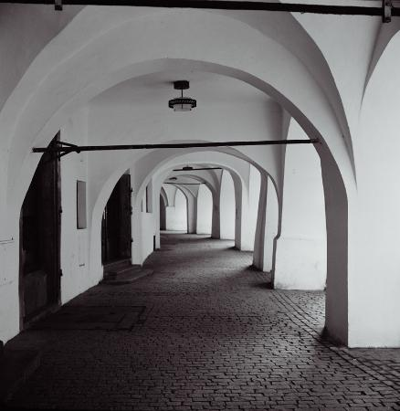 Arcade near old town square picture of prague bohemia for Hotels near old town square prague
