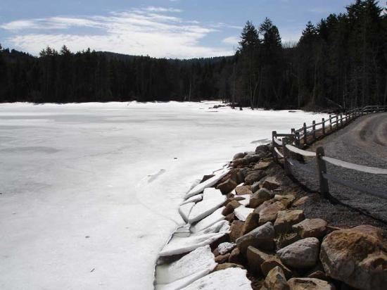 Snowshoe, Virginia Barat: Lake at the bottom of the slopes.