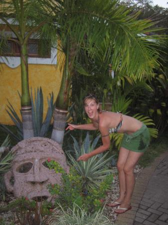 Villas Kalimba: masks are hidden throughout the grounds