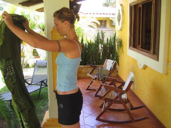 Villas Kalimba: the private balcony is a treat