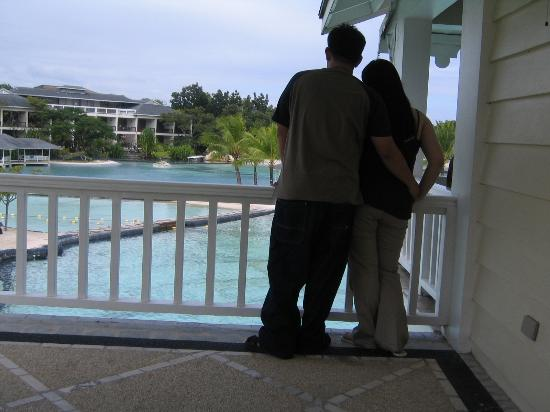 Plantation Bay Resort And Spa: One of our Lagoon View Room balcony with a great view of the resort.