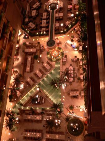 The Royal Garden: Le patio vu d'en haut dans les ascenseurs