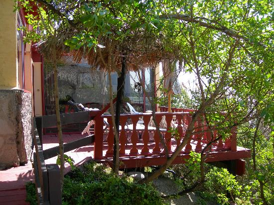 La Fonda Hotel & Restaurant: view towards room from walkway