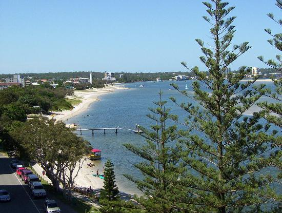 Golden Beach, ออสเตรเลีย: View of Caloundra off one of the balconies,