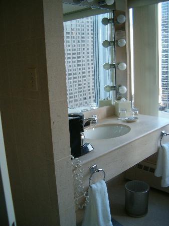 vanity, corner room