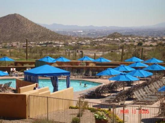 View from restaurant signature picture of jw marriott for Tucson lodging cabins