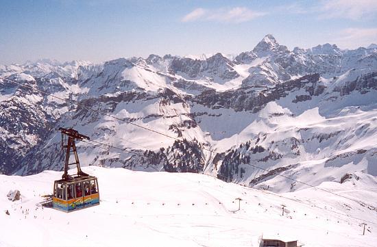 Hotel Garni Bergidyll: View from the top of the Nebelhorn