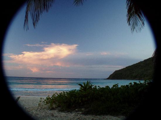 Culebra Beach Villas : Sunset view from hotel property line