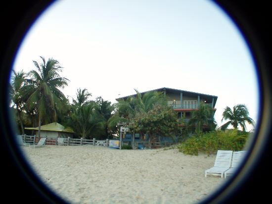 Culebra Beach Villas: Main Hotel Building view from the surf.