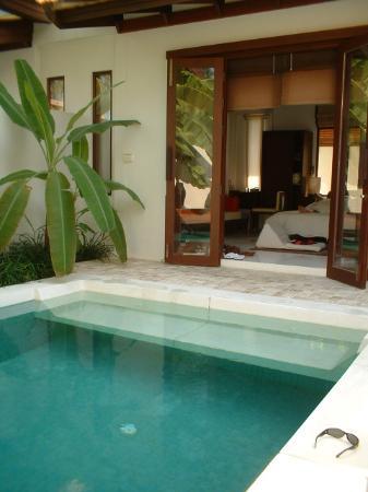 SALA Samui Choengmon Beach Resort: Outside our room - Private Pool!