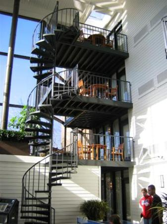 Weber's: Spiral staircase leading to/from balcony area of some suites.