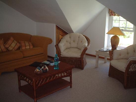 Le Manoir de Brendel Estate: the lounge part of our suite