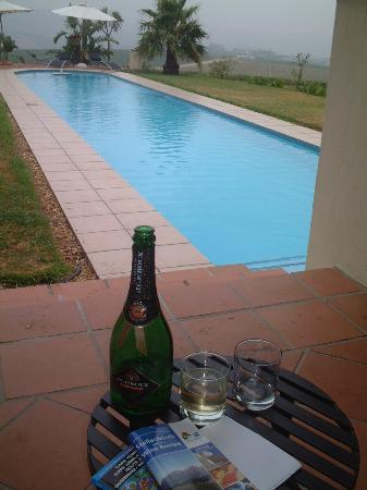 Allegria Guesthouse: complimentary local 'champagne' for us honeymooners!