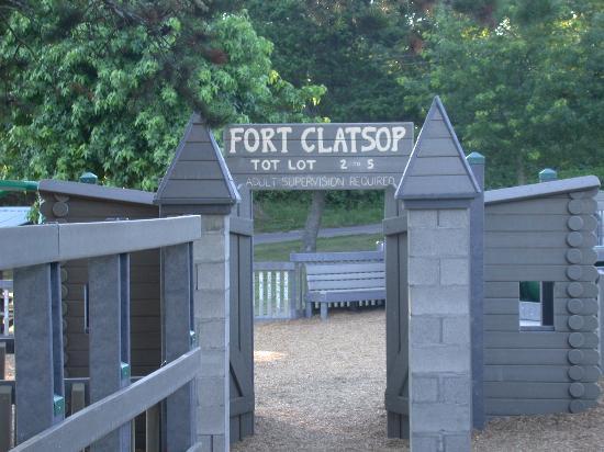Astoria, OR: Replica of Fort Clatstop at Tapiola Park