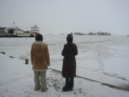 Radisson Blu Royal Hotel, Helsinki: Cool hotel...freezing harbour
