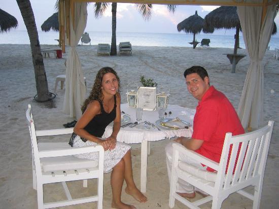 Bucuti & Tara Beach Resort Aruba : Private Dinner on the beach at Bucuti