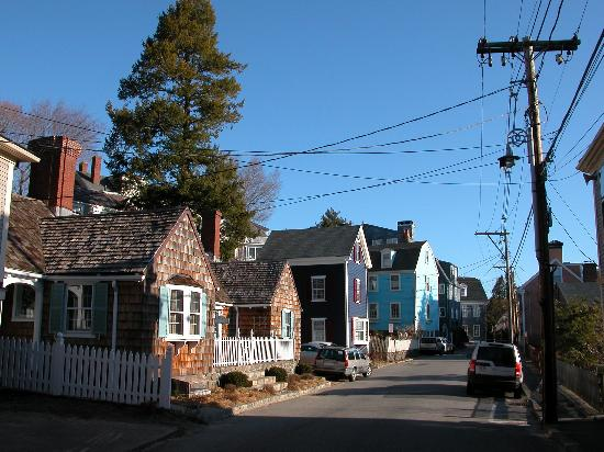 The street near the Harborside House